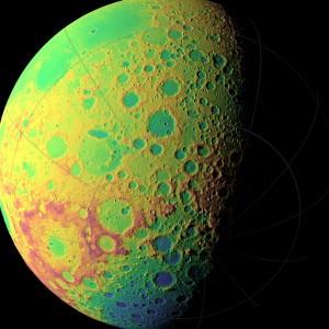 Ayın topoğrafik haritası