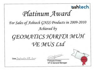Geomatics Astech Birincilik Ödülü