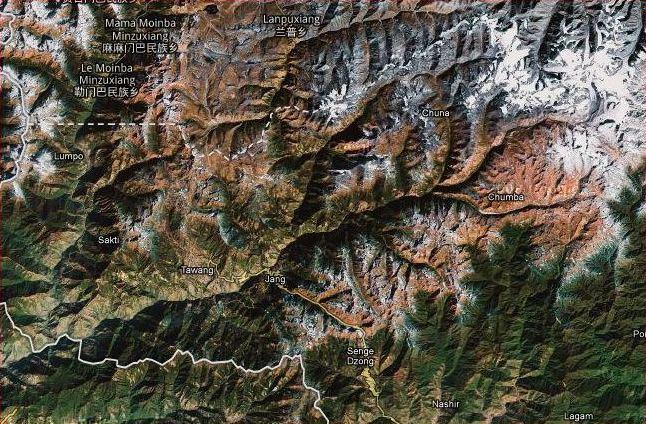 Google Maps uygulamasında Çin ve Hindistan sınırı