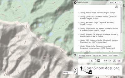 OpenSnowMap, kayak severlere yeni bir dünya sunuyor.