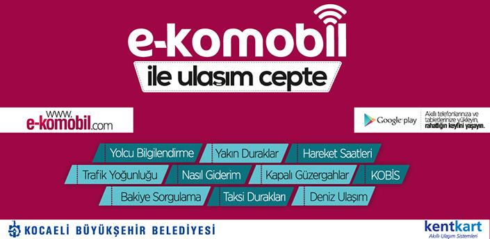 """""""e-komobil"""" projesiyle Kocaeli'de yaşayan vatandaşların yolculuklarını planlı, en doğru bilgilerle keyifli bir şekilde yapabilmeleri sağlanıyor."""