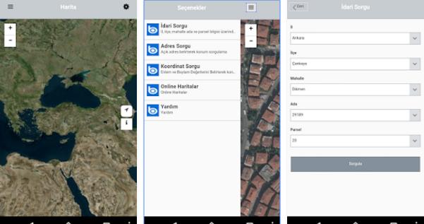 Yeni sayılabilecek bir mobil uygulama da Tapu Kadastro Genel Müdürlüğü'nden; TKGM Parsel Sorgu.